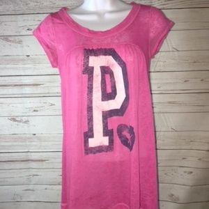 PINK Victoria Secret P Love Puppy Tunic Shirt Sz.S